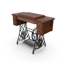 Antique Sewing Machine Cabinet PNG & PSD Images