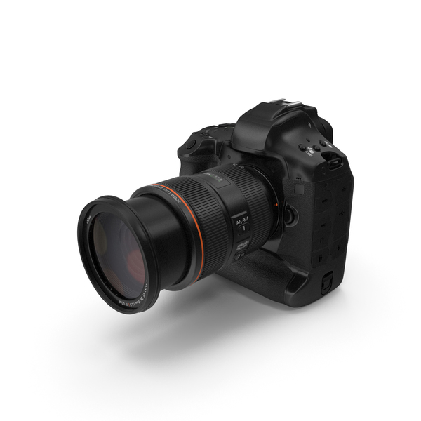 Digital Single Lens Reflex Camera with Zoom PNG & PSD Images
