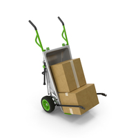 Garden Cart with Cardboard Box PNG & PSD Images