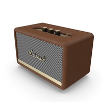 Marshall Acton II Wireless Wi-Fi Smart Speaker Brown PNG & PSD Images