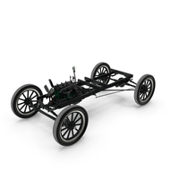 Retro Car Chassis with Engine PNG & PSD Images