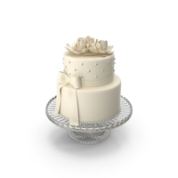 White Silk Bow Cake PNG & PSD Images