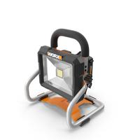 Worx 20V Portable LED Work Light PNG & PSD Images