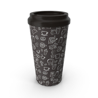 Paper Cup Brown Patterned PNG & PSD Images