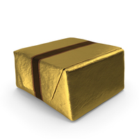 Wrapped Square Chocolate Golden PNG & PSD Images