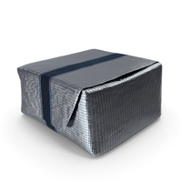 Wrapped Square Chocolate Silver PNG & PSD Images