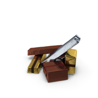 Small Pile of Wrapped Chocolate Candy PNG & PSD Images