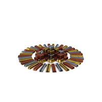 Circular Pile of Wrapped Chocolate Candy PNG & PSD Images