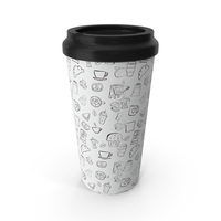 Paper Cup Brown White Patterned PNG & PSD Images