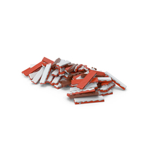 Pile of Rectangle Chocolate Bars PNG & PSD Images