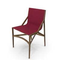 Cassina Pilotta Chair Oak Fabric Red PNG & PSD Images
