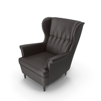 Leather Strandmon Wing Chair PNG & PSD Images
