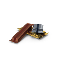 Small Pile of Wrapped Candy Bars PNG & PSD Images