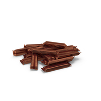 Pile of Wrapped Long Candy Bars PNG & PSD Images