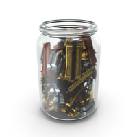 Jar with Wrapped Candy Bars PNG & PSD Images