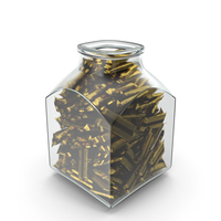 Square Jar with Wrapped Long Candy Bars PNG & PSD Images