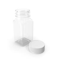 Plastic Square Bottle 2oz 60ml Open PNG & PSD Images