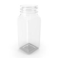 Plastic Square Bottle 4oz 120ml No Cap PNG & PSD Images