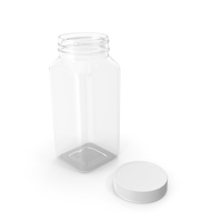 Plastic Square Bottle 8oz 240ml Open PNG & PSD Images