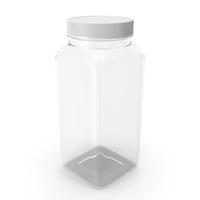 Plastic Square Bottle 16oz 480ml Closed PNG & PSD Images