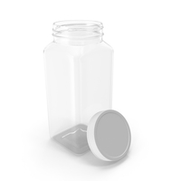 Plastic Square Bottle 16oz 480ml Open PNG & PSD Images