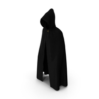 Black Cloak or Cape with Hood PNG & PSD Images