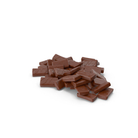 Pile of Sponge Cakes in Crisp Chocolate Cover PNG & PSD Images