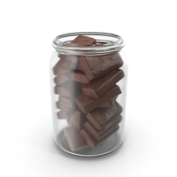 Jar with Sponge Cakes in Crisp Chocolate Cover PNG & PSD Images