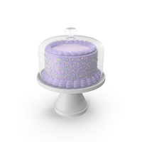 Purple Cake With Glass Dome PNG & PSD Images