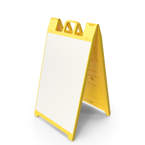 Sandwich Board Yellow PNG & PSD Images
