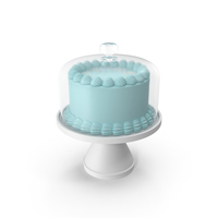 Blue Cake with Glass Dome PNG & PSD Images