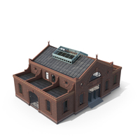 Old Industrial Building Modular Interior and Exterior PNG & PSD Images