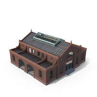 Old Industrial Building 07 Modular Interiror and Exterior 03 PNG & PSD Images