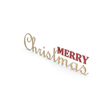 Merry Christmas Symbol Gold and Red PNG & PSD Images