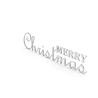 Merry Christmas Symbol Silver PNG & PSD Images
