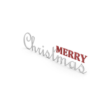 Merry Christmas Symbol Silver and Red PNG & PSD Images