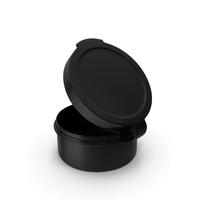 Pill Pod Hinge Top 1/2oz Open Black PNG & PSD Images