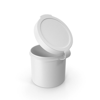 Pill Pod Hinge Top 1oz Open White PNG & PSD Images