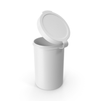 Pill Pod Hinge Top 4oz Open White PNG & PSD Images