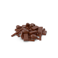 Pile of Assorted Chocolate Candies PNG & PSD Images