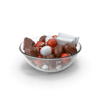 Bowl with Mixed Chocolate Candies PNG & PSD Images