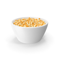 Corn Seeds in Ceramic Bowl PNG & PSD Images
