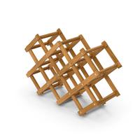 Foldable Wooden Wine Bottle Rack PNG & PSD Images