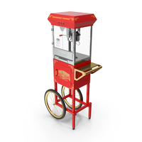 Great Northern Carnival Popcorn Popper Cart PNG & PSD Images