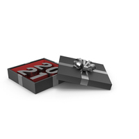 Silver Symbol 2021 In Black Gift Box with Silver Ribbon PNG & PSD Images