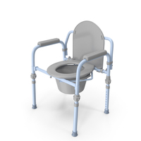 Medical Folding Bedside Commode Seat PNG & PSD Images