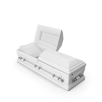 Opened White Funeral Casket PNG & PSD Images