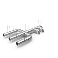 Ventilation Shaft Pipe System Set PNG & PSD Images