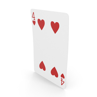 Playing Cards 4 of Hearts PNG & PSD Images