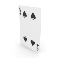 Playing Cards 4 of Spades PNG & PSD Images
